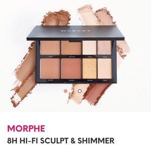 NIB Morphe 8H Hi-Fi Sculpt and Shimmer Palette